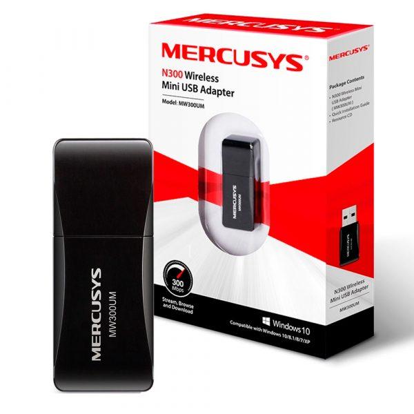Adaptador Inalambrico Mercusys Mini usb MW300UM