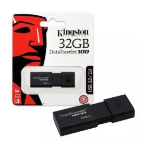 Memoria USB 3.0 Kingston 32 Gb Retractil DT100G3/32GB